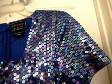 STENAY Blue/Pink Multi Sequin Dress-P10    WOW nice!