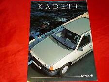 OPEL Kadett E LS Caravan Club GSi GSi 16V Cabrio GSi Edition Prospekt von 1990