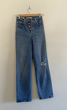 Levis Ribcage Straight Ankle Jeans Size 24