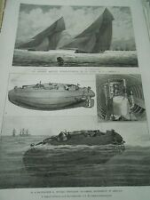 The Peacemaker New Torpedo boat Under marine in America Engraving 1886