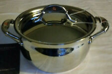 Ruffoni Vitruvius Copper and Stainless Steel Stock Pot and Lid Made in Italy