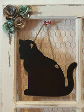 Cat Shaped Hanging Chalkboard Memo Message Blackboard Wedding Home Gift Sku603