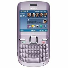 NOKIA C3-00 Lilac Light Purple WIFI mobile HandPhone HP PHONE qwerty keypad