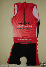Stafford Tri / VITESSE - MENS half-zip Triathlon Suit. Colors: red/black. Size 7
