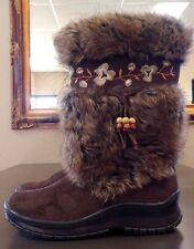 ~!Women's JEFFREY CAMPBELL ROUTE 66 Mule Leather Bearpaw Uggs boots.Size 7.5