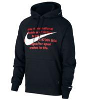 Nike NSW Swoosh Logo Mens Hoodie Black Size S Sportswear Pullover Sweatshirt