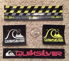Quiksilver Authentic Sticker Collection Surf Skate Snow Lot of 4 - RAD