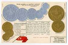 Turkey Turkish Coins on German Ad Postcard ca 1910 RARE Mint Condition