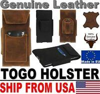 # TOGO GENUINE LEATHER HOLSTER BELT LOOP & CARD POCKET CASE FOR MOBILE PHONES