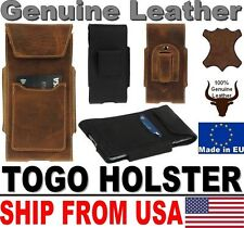 # TOGO GENUINE LEATHER HOLSTER BELT LOOP & CARD POCKET CASE FOR MOBILE PHONES