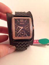 Relic by Fossil Addison Rose Gold-Tone Black Women's Watch ZR15658-HX