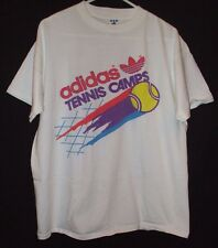 Vintage 1992 Adidas Williams Tennis Camp T Shirt Size L Made In USA Sports