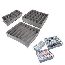 New 3 pcs Drawer Divider Closet Underwear Socks Organizer Container Storage Box
