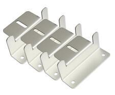 4x Metal Panel Solar Soporte de montaje Set Kit Aluminio Caravan Barco Motor-home