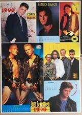 HUNKY BOYS Corey Haim / Christian Slater Original Vintage J17 Magazine Poster