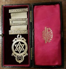 Masonic Medal: Silver Hallmarked: Exalted Honor Jewel Medal With Jewelry Box