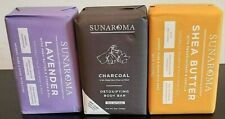 Sunaroma- Lavender, Charcoal & Shea Butter Beauty Bars 8oz ***Save On More***