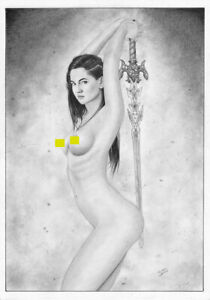 realistic ERETRIA Shannara Chronicles sexy PIN-UP ORIGINAL ART tv series show