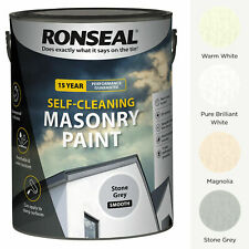 Ronseal Self-Cleaning Masonry Brick Concrete Paint 5L Waterproof Stone