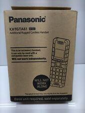 New ListingPanasonic Kx-Tgta61B Additional Rugged Cordless Handset W/ Ac Adapter Pnlc1083