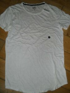 Mens Hollister Tee t-shirt  off white small   new with tags  RRP £19