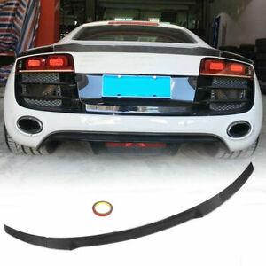 For Audi R8 GT V8 V10 Coupe 08-15 Carbon Fiber Rear Trunk Spoiler Lip Wing 3PCS