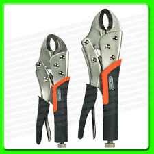 "Locking Mole grip Pliers Set 7"" & 9"" [STA161] Heavy Duty"