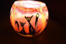 Lumière magique, Starlight verre d'éclairage Photophore DEUX CHATS , ,21116