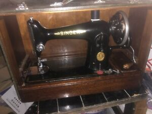 🧵🏅📍1936 SINGER HAND CRANK SEWING MACHINE 🧵FULLY FUNCTIONAL