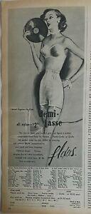 1952 women's Flexees demi-tasse girdle strapless bra vintage fashion ad