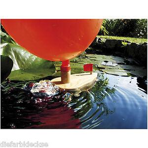 Knatterboot Boot aus Holz mit Luftballon NEU Experimentieren und Forschen Kinder