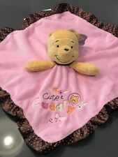 NEW Winnie the Pooh Pink Baby Disney Security Blanket Rattle Cute & Cuddly