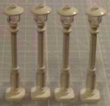 LEGO White Lamp Posts Street Lamp Trans Clear Light V1 x4 for Town City building