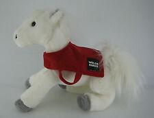 Wells Fargo Snowflake Plush Stuffed Horse Animal Red Blanket with Logo