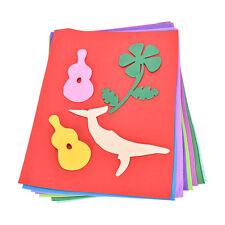 10 Sheets Sponge EVA Foam Thick A4 Paper Kids Handmade Hand Craft Supplies tbca