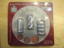 San Marino - Minikit 2006 - 1,2,5-Cent Rollen und Einzelmünzen -einmalig bisher!