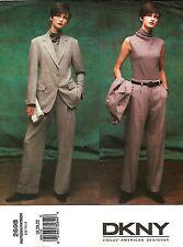 2002 Vogue American Designer DKNY 2698 Jacket/Pants Suit 18/20/22 Uncut New OOP