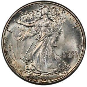 1943 50C Walking Liberty Half Dollar PCGS MS67 CAC