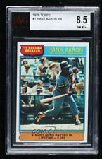 1976 Topps Hank Aaron #1 BVG 8.5 HOF