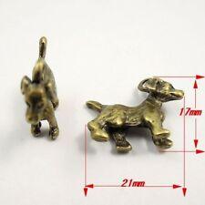 31524 Antiqued Bronze Tone Alloy 3D Cute Puppy Dog Pendant Charm 21*17*6mm 25PCS