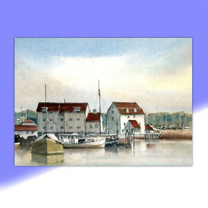 Suffolk, Woodbridge, Original Watercolour Painting by Ben Jackson
