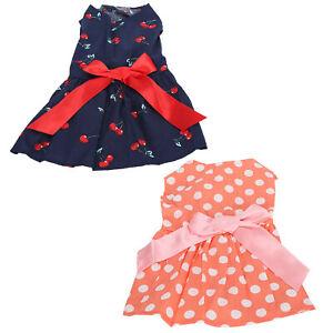 Pet Dog Puppy Party Clothes Pets Summer Sleeveless Skirt Dress Costume Supplies