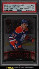 2015 Fleer Showcase Ultra Platinum Medallion Connor McDavid ROOKIE RC /99 PSA 10