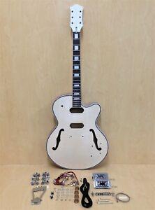 E-273MA-DIY Complete NO-SOLDER,Hollow Body Electric Guitar DIY Kit