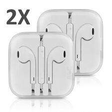 2 pack Original OEM Earphone Earpods with Mic/Romate for iphone 6 6p 5s 5c 5 4s