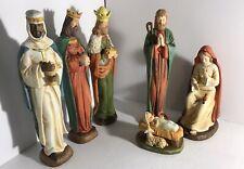 6 Piece Nativity M & R Marks & Rosenfeld Multicolor Christmas Jesus 12�