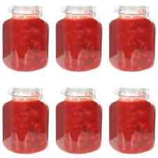 vidaXL 6x Glass Jam Jars with Lock 5L Conservation Preserving Container Bottle