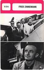 FICHE CINEMA :  FRED ZINNEMANN -  USA (Biographie/Filmographie)