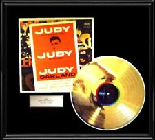 JUDY GARLAND LIVE CARNGIE HALL ALBUM FRAMED LP GOLD PLATED VINYL RECORD RARE!