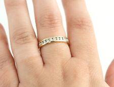 14K 1/3 CT Diamond Wedding Band Gold Round Channel Set .36 CTW Anniversary Ring